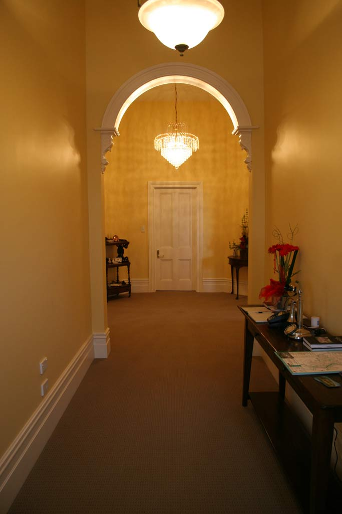 The lovely hallway in our B&B